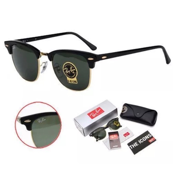 25bb8367148 Ray-Ban Clubmaster Sunglasses RB3016 W0365 G-15